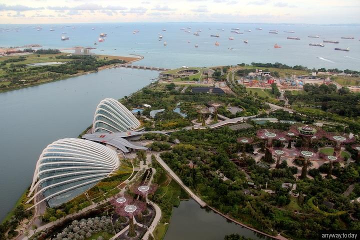 Вид на Сингапурские сады