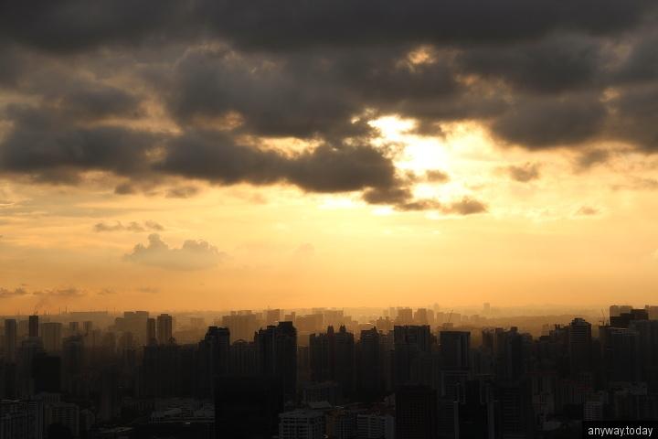 Жилые дома Сингапура на закате